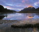 Loch Clair Dawn, Loch Clair, Torridon, Scotland, sunrise, winter, morning, twilight, blue, orange, crimson, Liathach, go photo