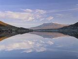 Loch a Chroisg Glass, Loch a Chroisg, Achnasheen, Scotland, faultless, polished, glass, morning, sunrise, winter, sheet, photo