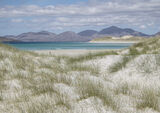 Lonely as a Cloud, Seilebost, Harris, Scotland, coastal, scenery, sea, turquoise, vivid, pattern, eyebrows, dune, grass photo