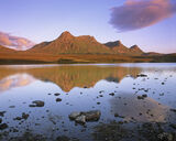 Loyal Gold, Loch Hakel, Tongue, Scotland, Ben Loyal, peaks, significant, reflected, beautiful, mid-summer, sunset, golde photo