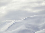Marshmallow, Straumsbotn, Senja, Norway, winter, snow, unblemished, sheet, sail, billowing, clouds, blue, soft, light  photo