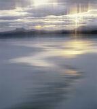 Mellon Art, Mellon Udrigle, Laide, Scotland, vaseline, filter, flow, gold, reflected, stream, meandering, sand, smear photo