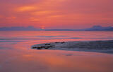 Mellon Rise, Mellon Udrigle, Wester Ross, Scotland, orange reflection, movement, tide, blood red, sunrise, Coigach, Inve photo