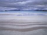 Mellon Strata, Mellon Udrigle, Laide, Scotland, patterns, colour, sand, beach, sedimentary, layers, stripe, clouds, turq photo