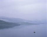 Mist Over Eribol, Loch Eribol, Sutherland, Scotland, twilight, spring, magical, mood, atmosphere, evening, sky, stillnes photo