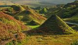 Mountains From Molehills, Fairy Glen, Skye, Scotland, micro, world, landscape, hills, cone, eroded, sheep, photogenic  photo