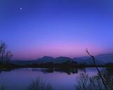 Night Flight To Venus, Loch Cul Dromannan, Inverpolly, Scotland, stunning, reflection, colour, gradient, blue, Venus, Mo photo