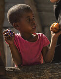 Okavango Kids 4, Okavango Delta, Botswana, Africa, walk, village, group, kids, curious, doughnuts, tin, shack, homes photo