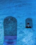 On Ice, Mer De Glace, Chamonix, France, ice, artwork, Mont Blanc Massif, house, Ben, arched window  photo
