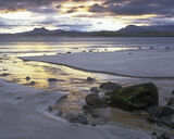 Painted, Mellon, Mellon udrigle, Laide, Scotland, winter, sunrise, golden, light, beach photo