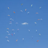 Paraballet, Annecy, Haute Savoie, France, mountains, summer, paragliding, cloud, cotton wool, wheel, square, circles,  photo
