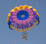 Parascending Square, St Nicholas, Zakynthos, Greece, Lauren, Ben, kids, aloft, parachute  photo