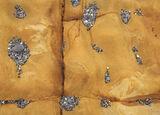 Pebble Motes, Cummingston, Moray, Scotland, collection, tiny, pebbles, stones, colours, pockets, bedrock, ochre, sandsto photo