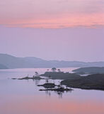 Pink Assynt, Loch Assynt, Assynt, Scotland, mist, loch, overlapping, tree, silhouettes, recession, pink, sunset, loch photo
