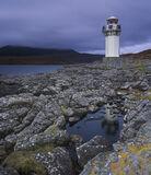 Rhue Lighthouse Twilight, Rhue, Inverpolly, Scotland, spectacular, Coigach ridge, brooding, lighthouse, lichen, rock photo