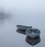 Rusky Blues, Loch Rusky, Trossachs, Scotland, beguiling, contrast, softest, blue, boats, dawn, light