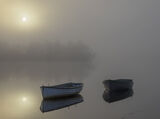 Rusky Sublime 2, Loch Rusky, Trossachs, Scotland, sublime, perfection, sunrise, orb, reflection, contrast, row boats, po photo