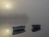 Rusky Sublime 2, Loch Rusky, Trossachs, Scotland, sublime, perfection, sunrise, orb, reflection, contrast, row boats, po