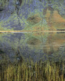 Salad Loch, Loch Achtriochtan, Glencoe, Scotland, spring, growth, fresh, enormous, reflected, rock, slab, slopes  photo