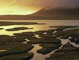 Scarasta Gold, Traigh Scarasta, Harris, Scotland, slat marshes, complex, rain, exquisite, golden, light photo