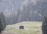 Secret Liaison, Alpbach, Austria, Europe, snowing, village, mountains, grass, snowflakes, dusk, still, hut, snow, blizza photo