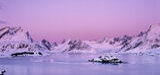 Selfjord Pink Pano, Selfjord, Lofoten, Norway, pink, dawn, light, paints, icing sugar, peaks, candyfloss, twilight, cool photo