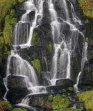 Skye Cascade, Storr, Skye, Scotland, beautiful, cascade, threads, Old Man of Storr, verdant, green, moss, black, rocks photo