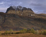Sliochs Crown, Loch Maree, Kinlochewe, Scotland, status, master, crown, clouds, winter, sunlight, illuminate, snow,  photo