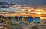 Spring Sunset Findhorn Huts
