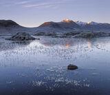 Steel Ice Blues, Rannoch Moor, Glencoe, Scotland, blue, ice, frosty, morning, freezes, lochans, red, sunlight, snow, Bla photo