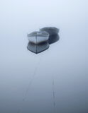 floating, mirror, blue, boats, pre-dawn light, mist, dense, ethereal, magical, wooden