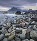 Stones Elgol, Elgol, Skye, Scotland, depressing, dull, stoney, beach, sea, grey, hues, glisten, pebble, muted  photo