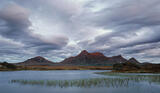 Storm Clouds Ben Loyal, Loch Hakel, Tongue, Scotland, light, rain, summer, clouds, epic, mountains, peak, summit, red, c photo