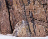 Stress Fractures, Durness, Sutherland, Scotland, massive, sand, red, granite, cliffs, fractured, coast, lump, sheared   photo