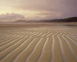 Stripes Traigh Lar, Traigh Lar, Harris, Scotland, Spring, defined, lines, etched, sand, deep, curves, reflected, sky, li photo