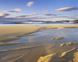 Sublime Traigh Mhor, Traigh Mhor, Harris, Scotland, stunning, golden, sand, coarse, tide, troughs, furrows, sunset, refl photo