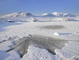 Subzero, Rannoch Moor, Glencoe, Scotland, crystal, clear, brilliant, morning, sunlight, frozen, loch, sharp, snow, shado photo