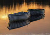 Sunrise Mooring Rusky, Loch Rusky, Trossachs, Scotland, trout, fishing, row boats, loch, powder blue, timber, sunrise, g photo