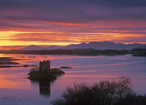 Sunset Over Stalker, Castle Stalker, Argyl & Bute, Scotland, winter, sunset, castle  photo