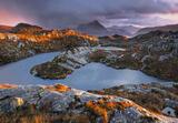 Sunset Squall Diabaig, Diabaig, Torridon, Scotland, sunset, lofty, view, peaks, ephemeral, light, winter, quality, mood  photo