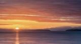 Tangerine Oil Rig Nursery, Burghead Harbour, Moray, Scotland, Burghead harbour, evening, light, sunset, Moray Firth, Inverness, contrast, orb, gap,