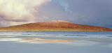 Taransay Copper, Traigh Rosamol, Harris, Scotland, sunlight, morning, symmetrical, bracken, colour, elements  photo