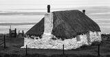 Thatch Uist, Malacleit, N. Uist, Scotland, little, thatched, cottage, north uist, evening, low tide, patterns, textures, photo