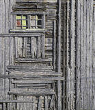 Timber Framed, Vollen, Lofoten, Norway, dilapidated, barn, perspective, colour, frame, grey, faded  photo