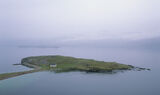 Tombolo, Loch Eribol, Sutherland, Scotland, isthmus, main land, walkway, concave, beaches, cottage, white, lime kiln, mi photo