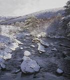 Torridon River, Glen Torridon, Torridon, Scotland, wildest, magnificent, peaks, river, scenic, winter, snow, dusted, sco photo