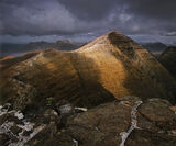 Transient Light Beinn Alligin, Tom Na Gruigaich, Scotland, climbing, summit, marginal, weather, awesome, splendour, clou photo
