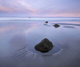 Twilight Rockpool, Hopeman, Moray, Scotland, tranquil, quiet, serenity, wash, colour, twilight, reflected, beach photo