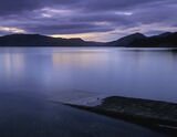 Twilight Slipway, Loch Appin, Argyll, Scotland, twilit, lapping, gentle, water, submerged, slipway, beguiling, palette photo