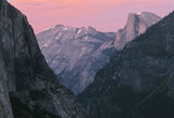 Twilight At Half Dome, Yosemite, California, USA, perspective, distant, peak, shapes, vast, twilit, pink, sky, overlappi photo